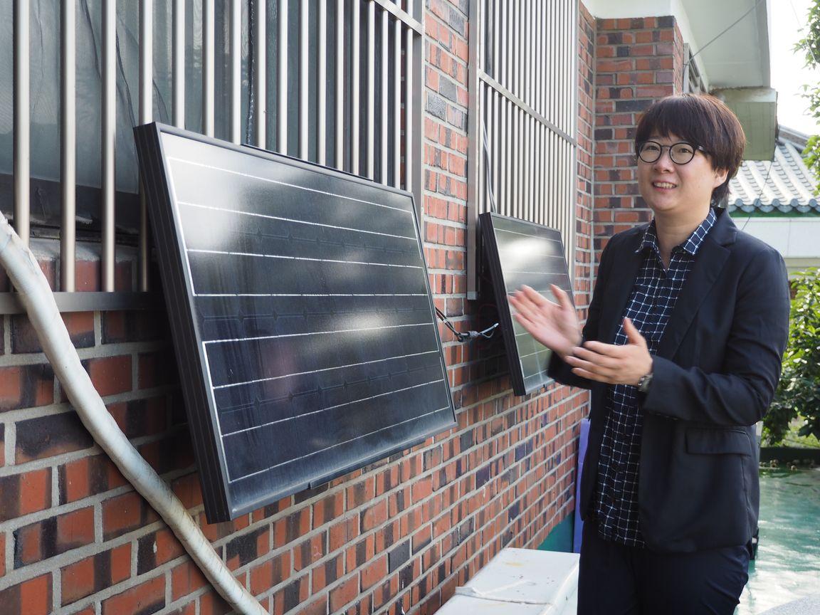 初期のころに設置したという太陽光パネル